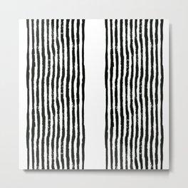 Zen Stripe Block Print Metal Print
