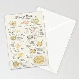 Tortilla de patatas recipe in Spanish Stationery Cards