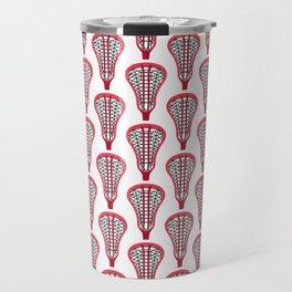 Girls'/Women's Lacrosse Sticks - Red Travel Mug
