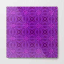 Purple Haze Flowers Metal Print