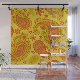BIG PAISLEY  | yellow russet Wall Mural