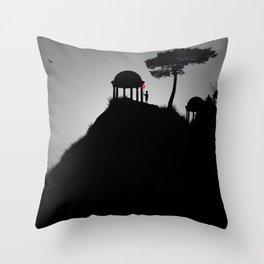 The Silent Shrines Throw Pillow