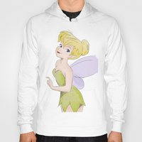 tinker bell Hoodies featuring Tinker bell by Chris Bird