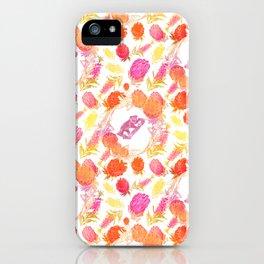 Beautiful Australiana Floral Pattern - Native Australian Flowers and Koalas iPhone Case