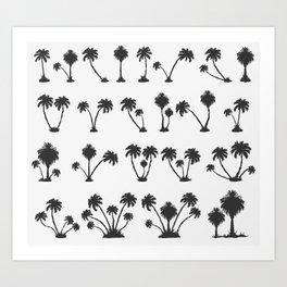 solar palm beach in a dark color Art Print