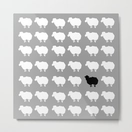 Black sheep Metal Print