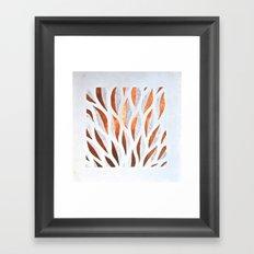 Hojas de metal Framed Art Print
