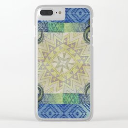 Blue Buffalo Roaming Round Clear iPhone Case