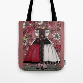 Snow-White and Rose-Red (1) Tote Bag