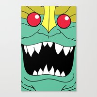 thundercats Canvas Prints featuring Mumm-Ra - Thundercats by Dukesman