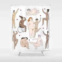 All Women Are Beautiful Shower Curtain