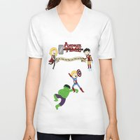 avenger V-neck T-shirts featuring Avenger Time! by Det Guiamoy