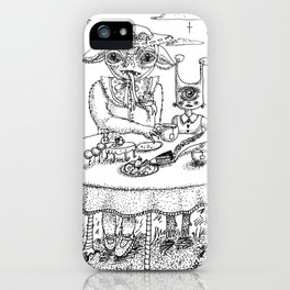 Monster Tea Party (B&W) iPhone Case