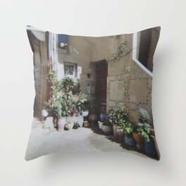 Green house, Taghazout Throw Pillow