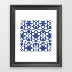Pattern Print Edition 1 No. 1 (navy and white) Framed Art Print