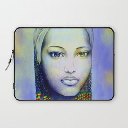 Creole African Girl Portrait Hand Drawing  Laptop Sleeve