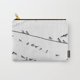 Swallows on Wires #society6 #decor #buyart #kirovair Carry-All Pouch