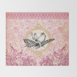 Vintage Fairy Queen Throw Blanket