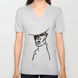 girl with hat Unisex V-Neck