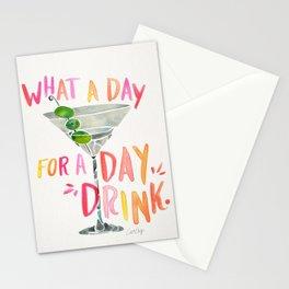 What a Day for a Day Drink – Melon Typography Stationery Cards