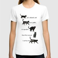 marx T-shirts featuring Black cat crossing by IvanaW