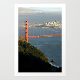 Golden Gate Bridge and San Francisco Art Print