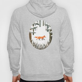Fox In A Late Winter Snowfall Hoody