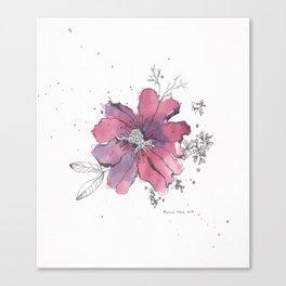 flor morada Canvas Print