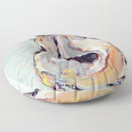 Oyster shell Floor Pillow