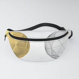 soccer ball gold Fanny Pack