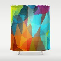 stained glass Shower Curtains featuring Stained Glass  by Latidra Washington