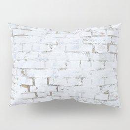 Vintage White Brick Wall Pillow Sham