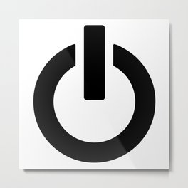 Power Button Metal Print