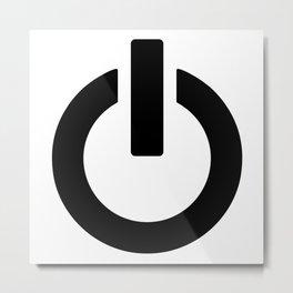 Power Button Metal Print