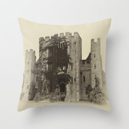 Hever Castle Yellow Plate Throw Pillow