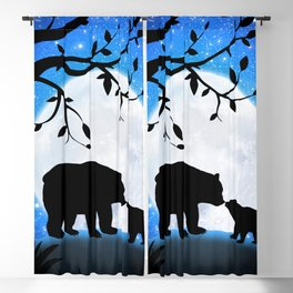 Moon and bears Blackout Curtain