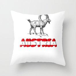 Austria holiday mountains Throw Pillow
