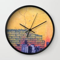 denver Wall Clocks featuring denver by Saari Shelhart