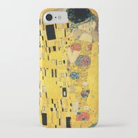 gustav klimt iPhone & iPod Cases featuring The Kiss - Gustav Klimt by BravuraMedia