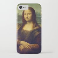 mona lisa iPhone & iPod Cases featuring Mona Lisa by Leonardo da Vinci by Palazzo Art Gallery