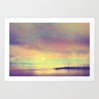 The Sea Sunset Art Print