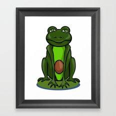 Frogocado Framed Art Print