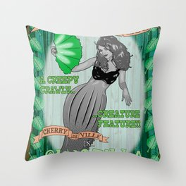 Slug Lady Throw Pillow