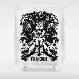 Fox McCloud Star Fox Inspired Geek Psychological Inkblot Shower Curtain