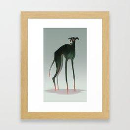 Demon Dog Framed Art Print