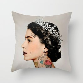 Rebel Queen Throw Pillow