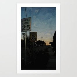 Suburban Sublime Original Art Print