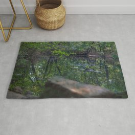 Calm Lake in the Woods Rug