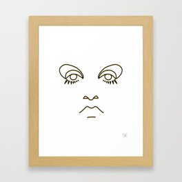 Twiggy in black and yellow Framed Art Print