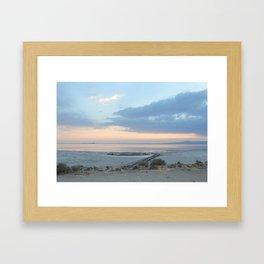 Sunset at Spiral Jetty Framed Art Print